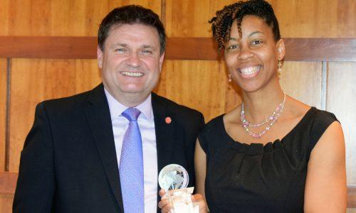 Crutchfield Presented UM Online Teaching Award