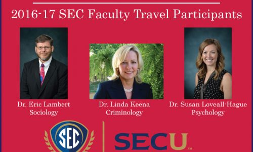 Three Applied Sciences Professors Awarded SEC Faculty Travel Support