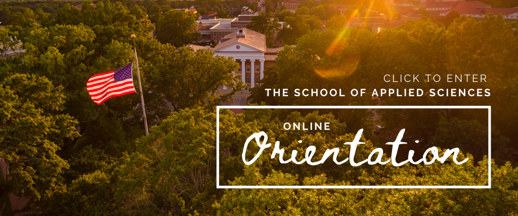 Click to enter the School of Applied Sciences Online Orientation